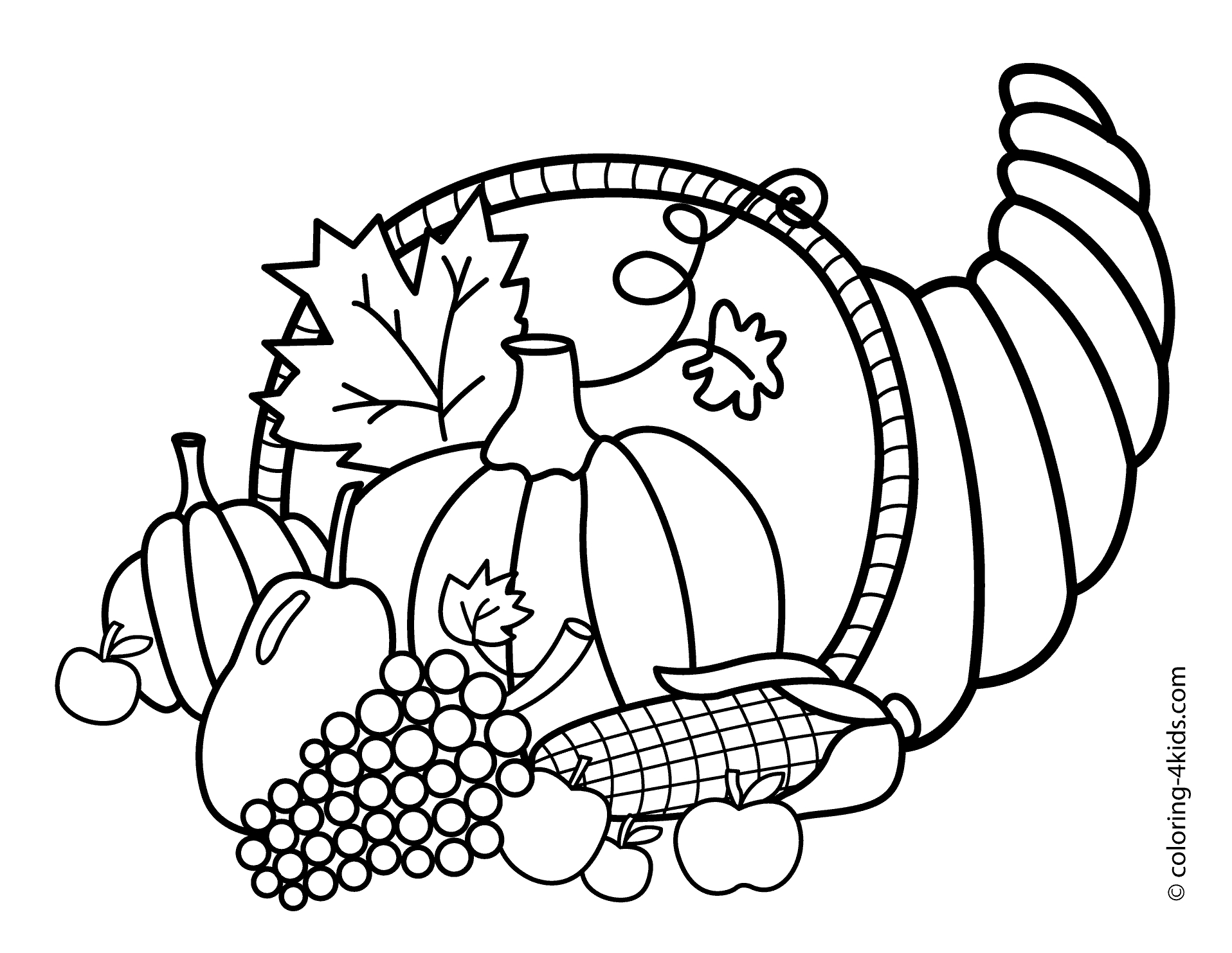 thanksgiving coloring pages - 129