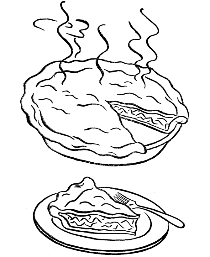 thanksgiving turkey coloring pages - apple pie coloring pages