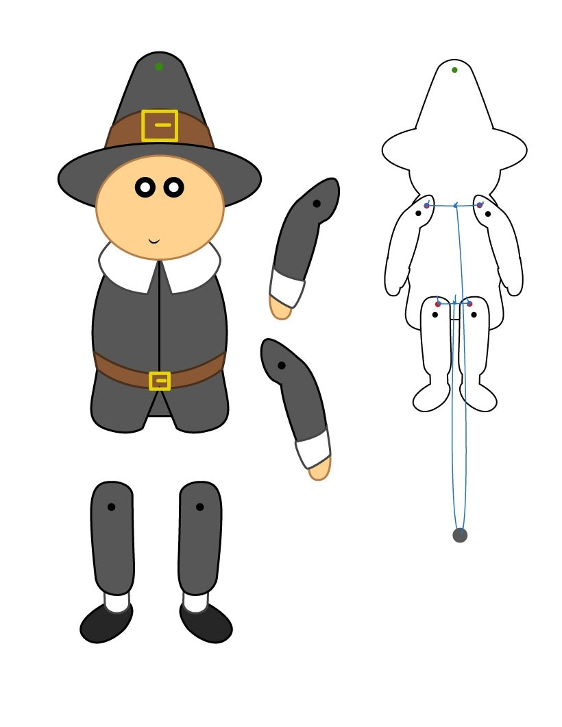 thanksgiving turkey coloring pages - thanksgiving paper puppets