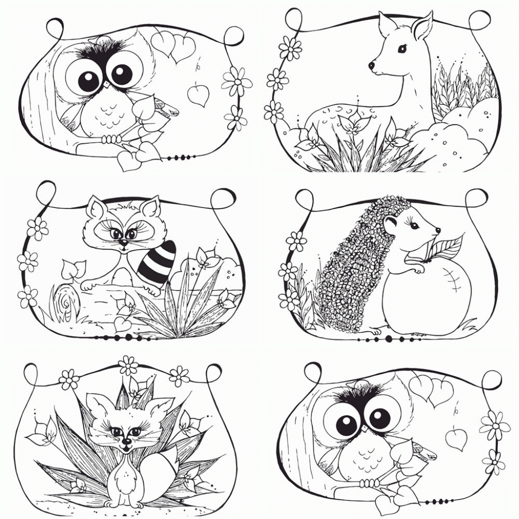 thanksgiving turkey coloring pages - woodland animal coloring page