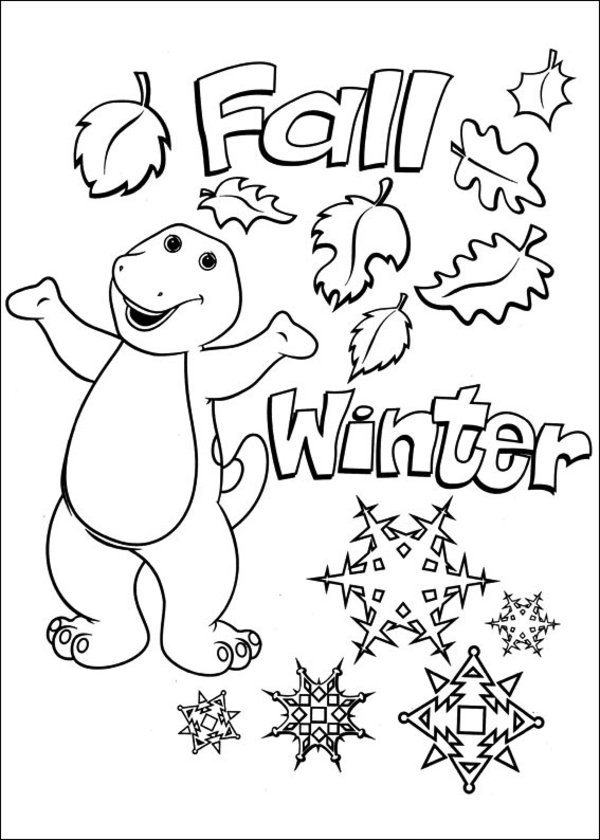 the color purple page count - barney and friends coloring pages picture 27