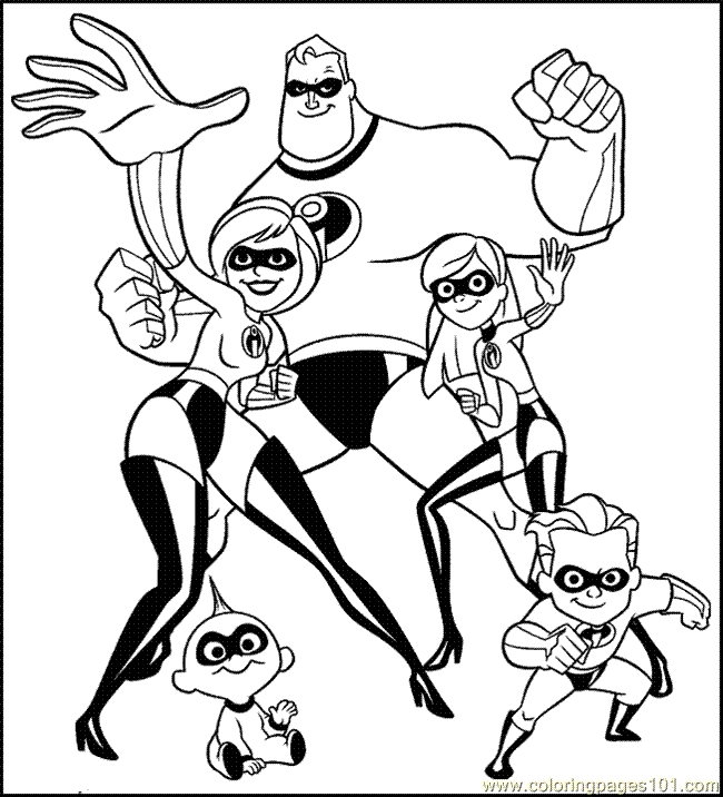 the incredibles coloring pages - Incredibles Coloring Pages 15