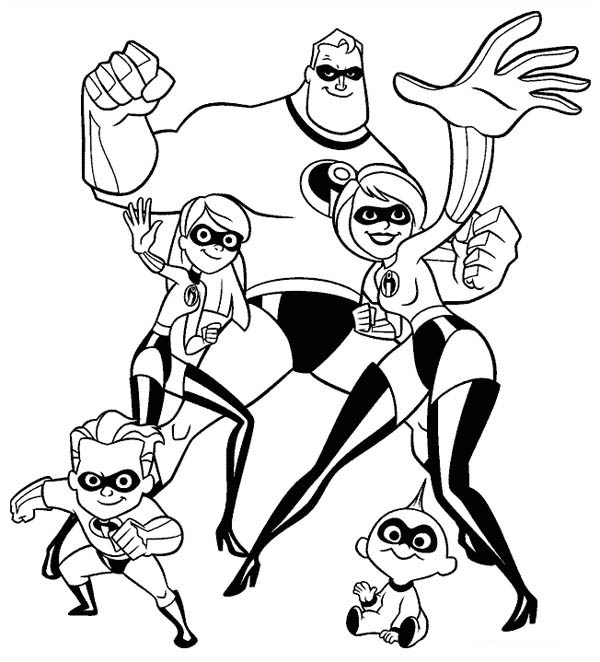 the incredibles coloring pages - the incredibles coloring pages online 3