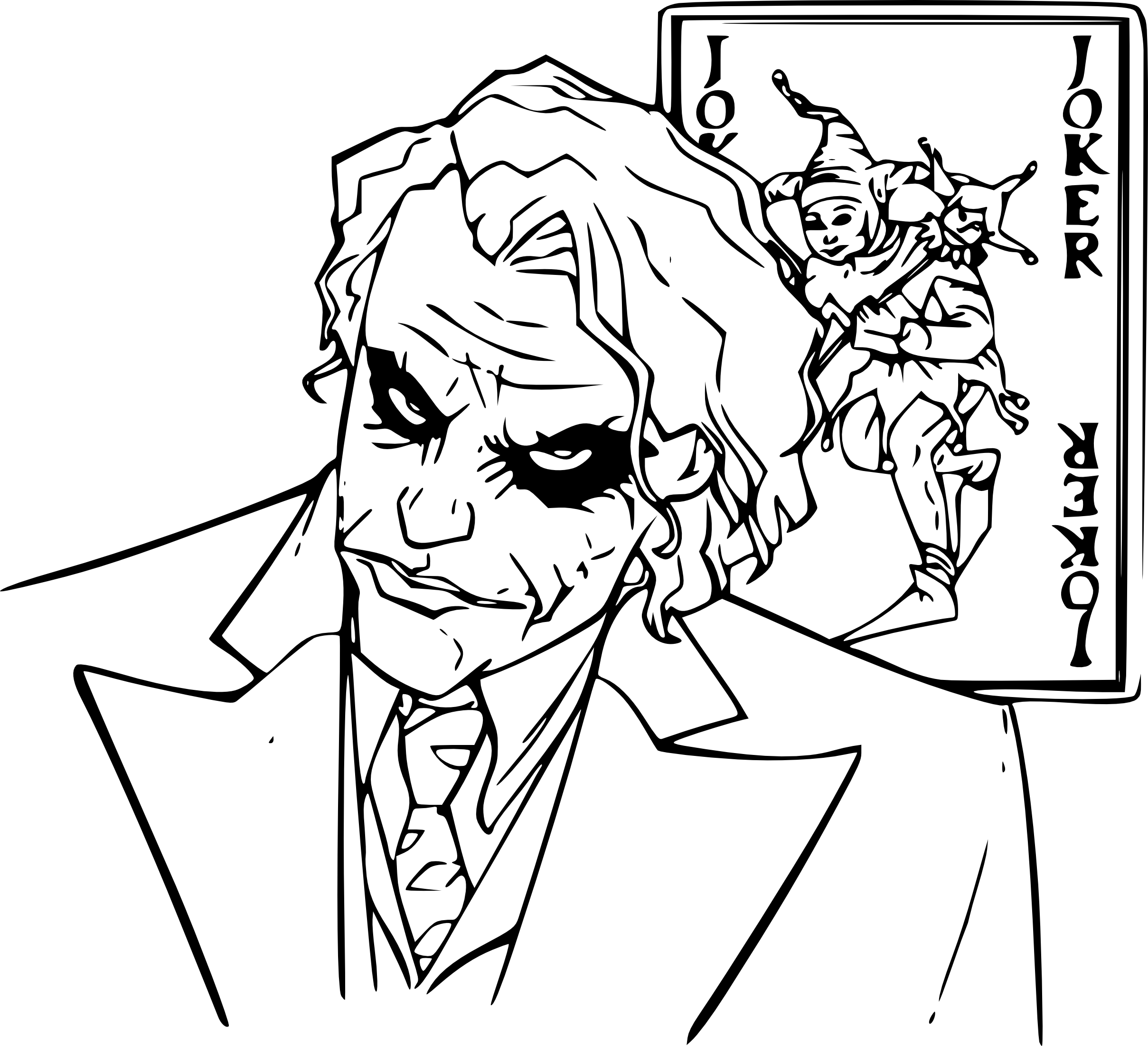 the joker coloring pages - coloriagelejoker