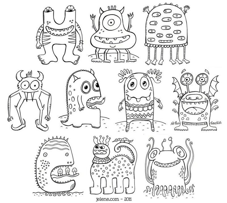 the lord's prayer coloring pages - Monsters · Monster Coloring PagesColoring