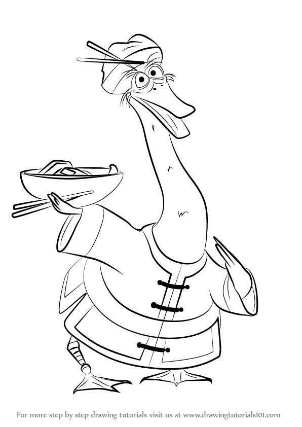the lord's prayer coloring pages - How to Draw Mr Ping from Kung Fu Panda 3 step by step learn drawing by this tutorial for kids and adults
