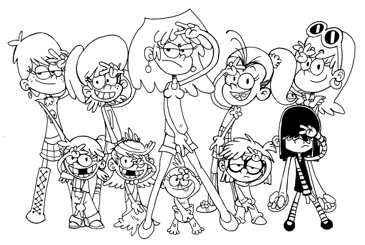 20 The Loud House Coloring Pages Compilation Free Coloring Pages