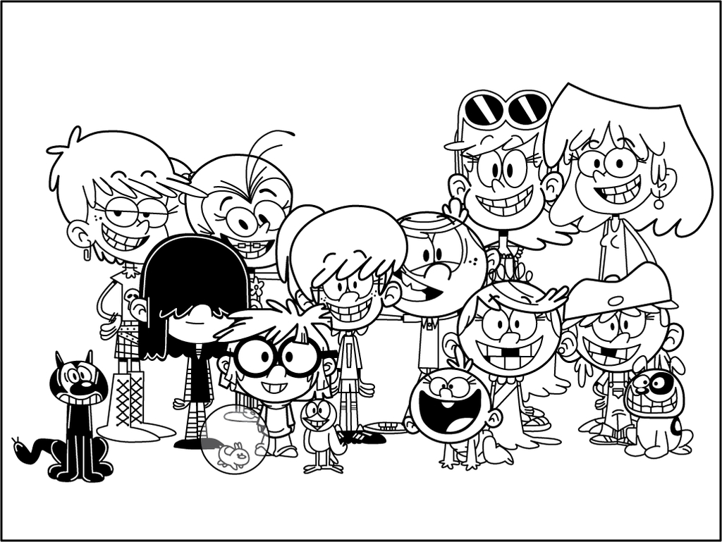 the loud house coloring pages - the loud house coloring sheets sketch templates