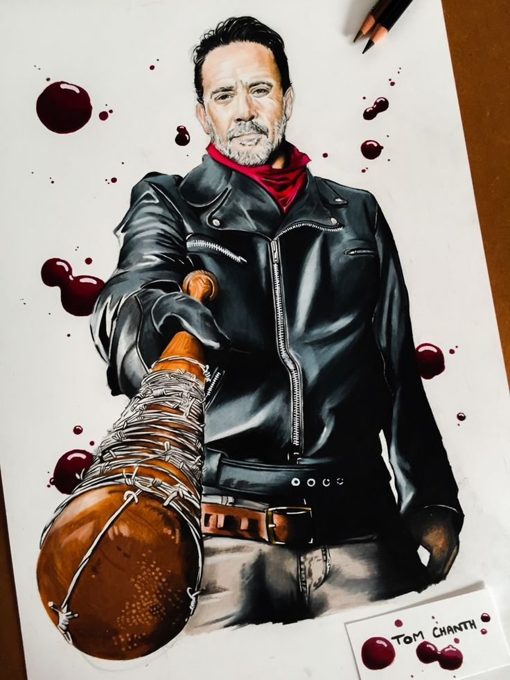 the walking dead coloring pages - negan lucille