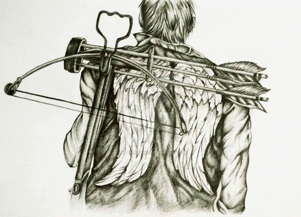 The Walking Dead Coloring Pages - Daryl Dixon Wings by Samanddean67 On Deviantart