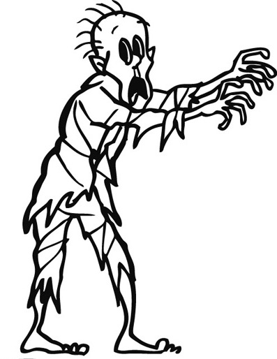 the walking dead coloring pages - zombie coloring pages