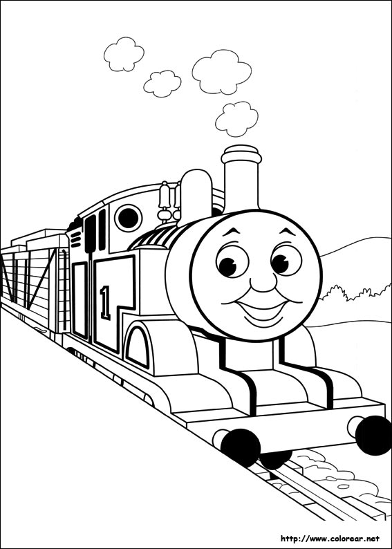 Thomas Coloring Pages - Free Coloring Pages Of Simple Thomas Tank Engine