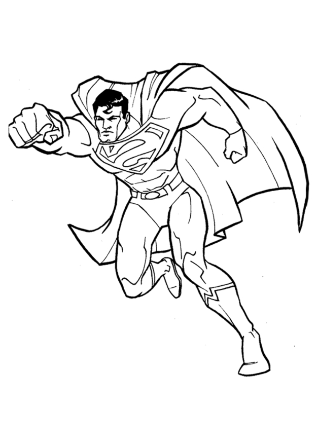 thor coloring pages - coloriage superman gratuit