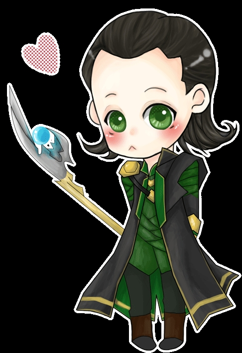 thor coloring pages - Chibi Loki