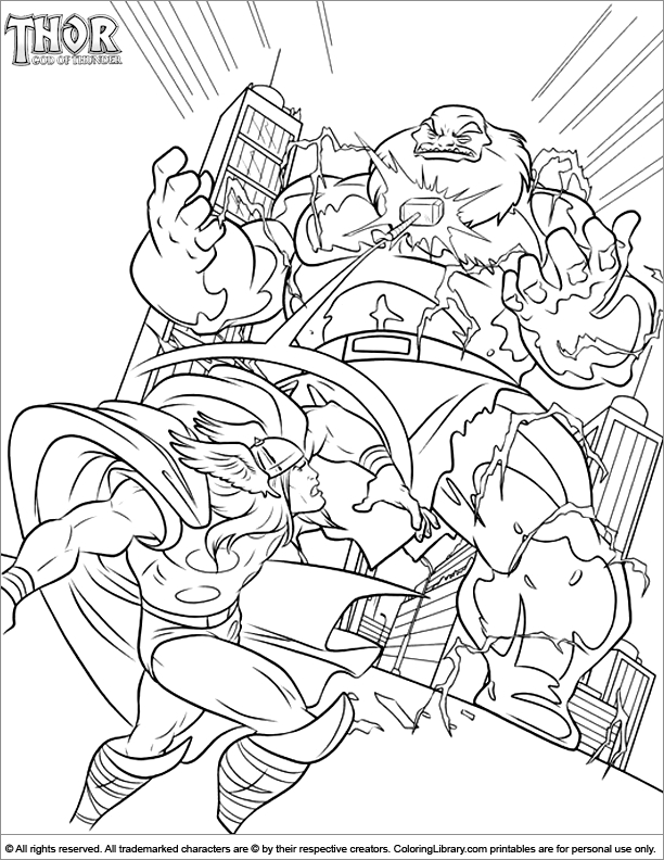 thor coloring pages - page 1755