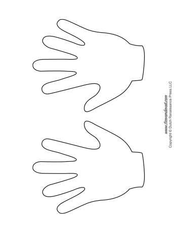 three little pigs coloring pages - handprint templates