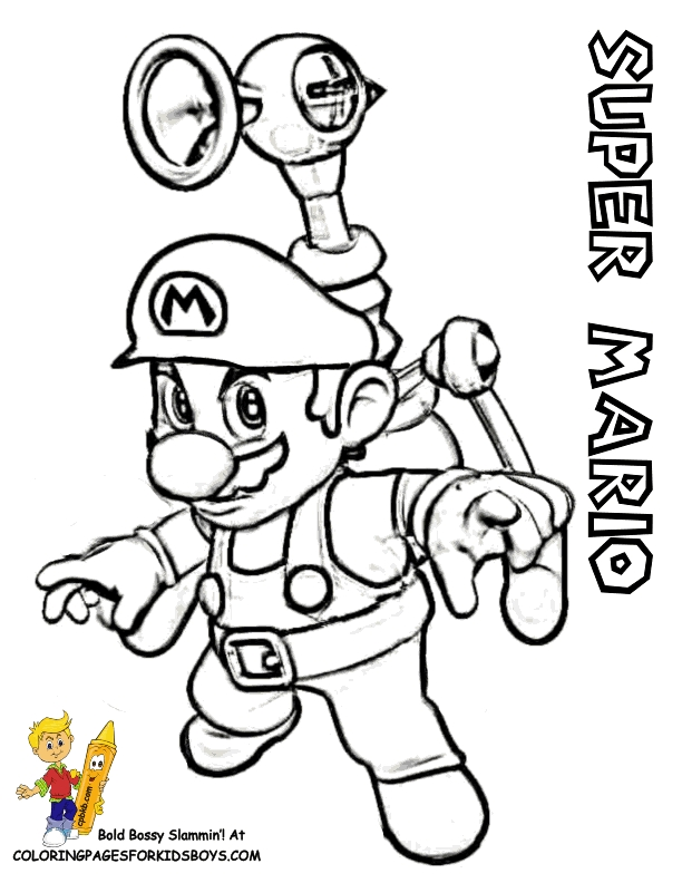 three little pigs coloring pages - super mario bros pics