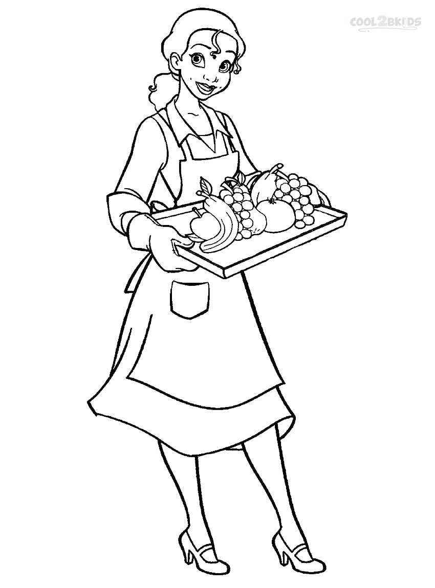 Tiana Coloring Pages - Printable Princess Tiana Coloring Pages for Kids