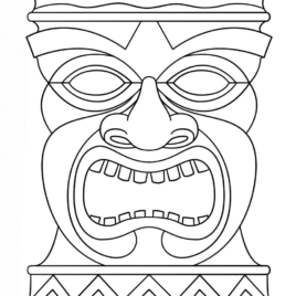 tiki coloring pages - coloring pages tiki masks