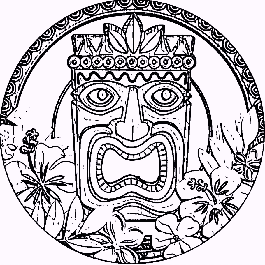 picture relating to Tiki Mask Printable referred to as 20 Tiki Coloring Web pages Printable Absolutely free COLORING Webpages - Aspect 3