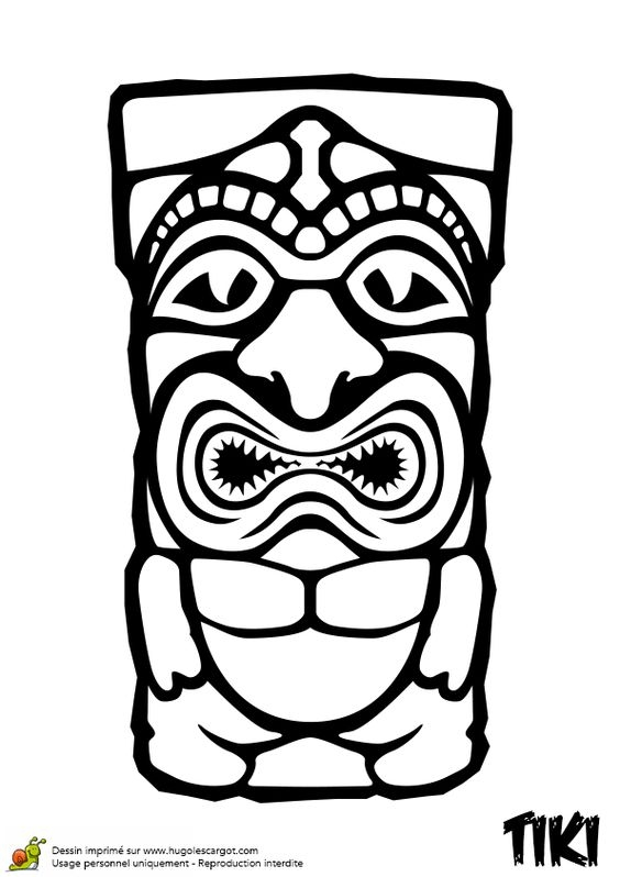 tiki coloring pages - tiki face coloring pa ml