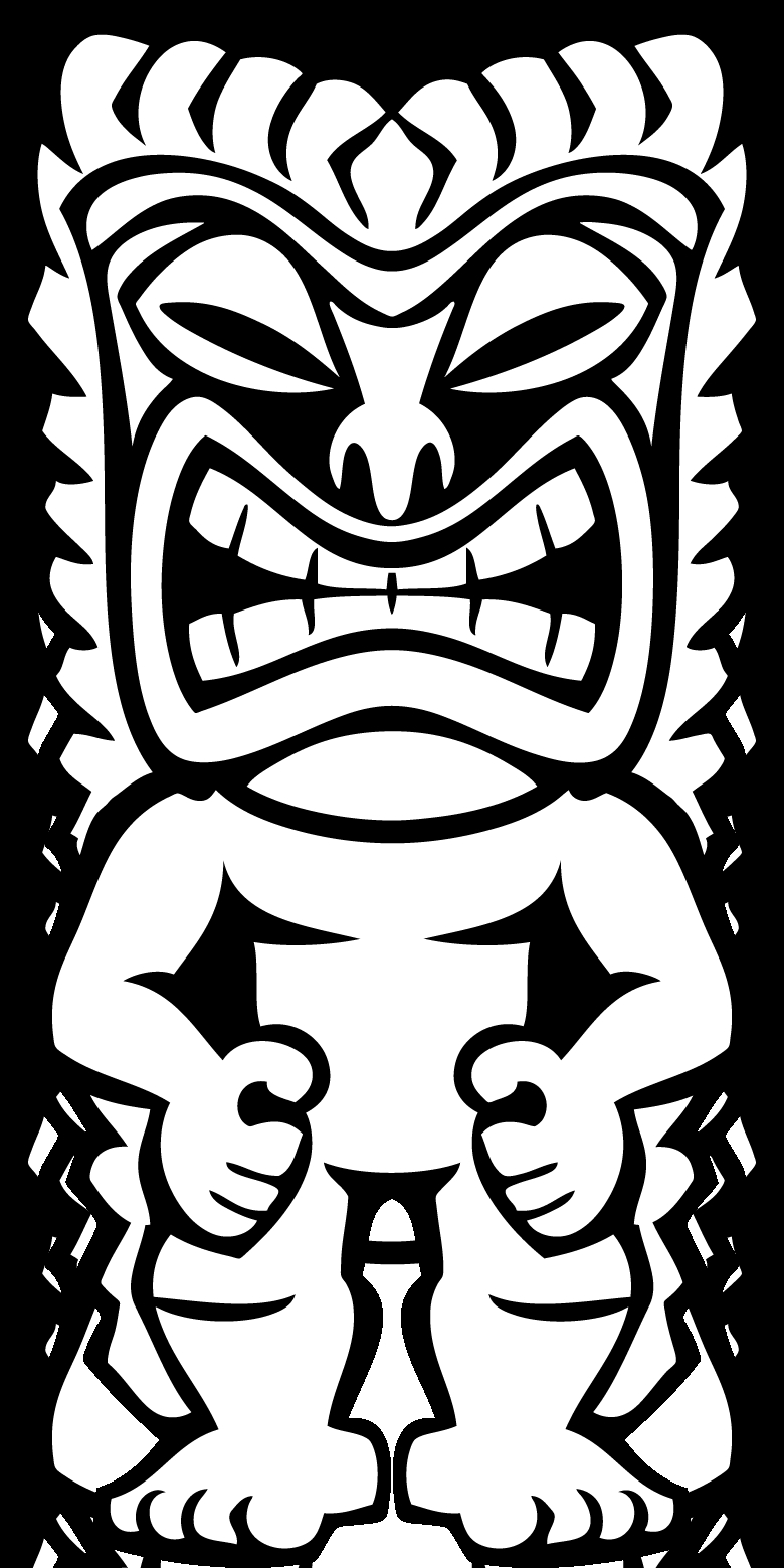 tiki coloring pages - tiki head coloring pages printable sketch templates