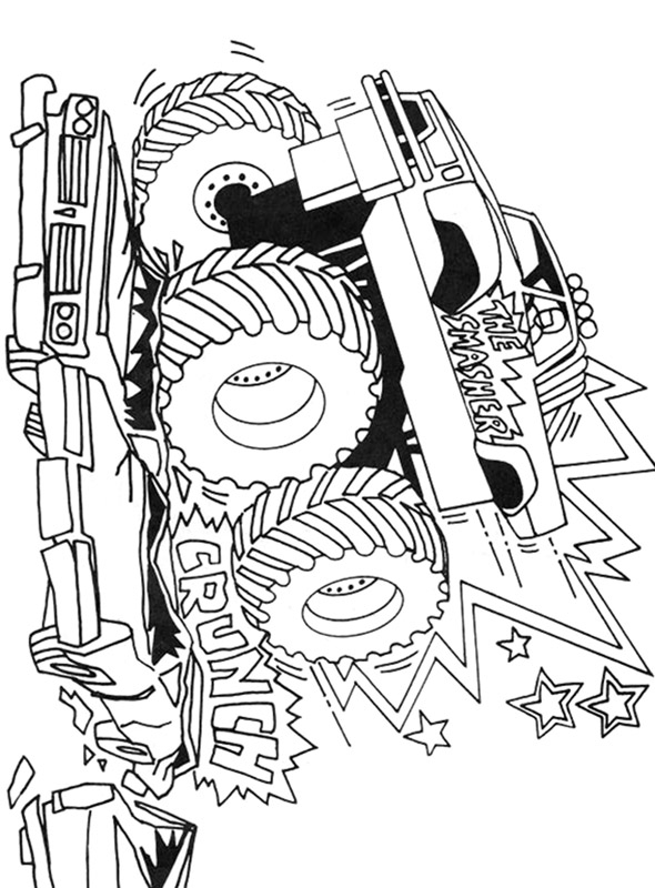 tinkerbell coloring pages - monster truck 10