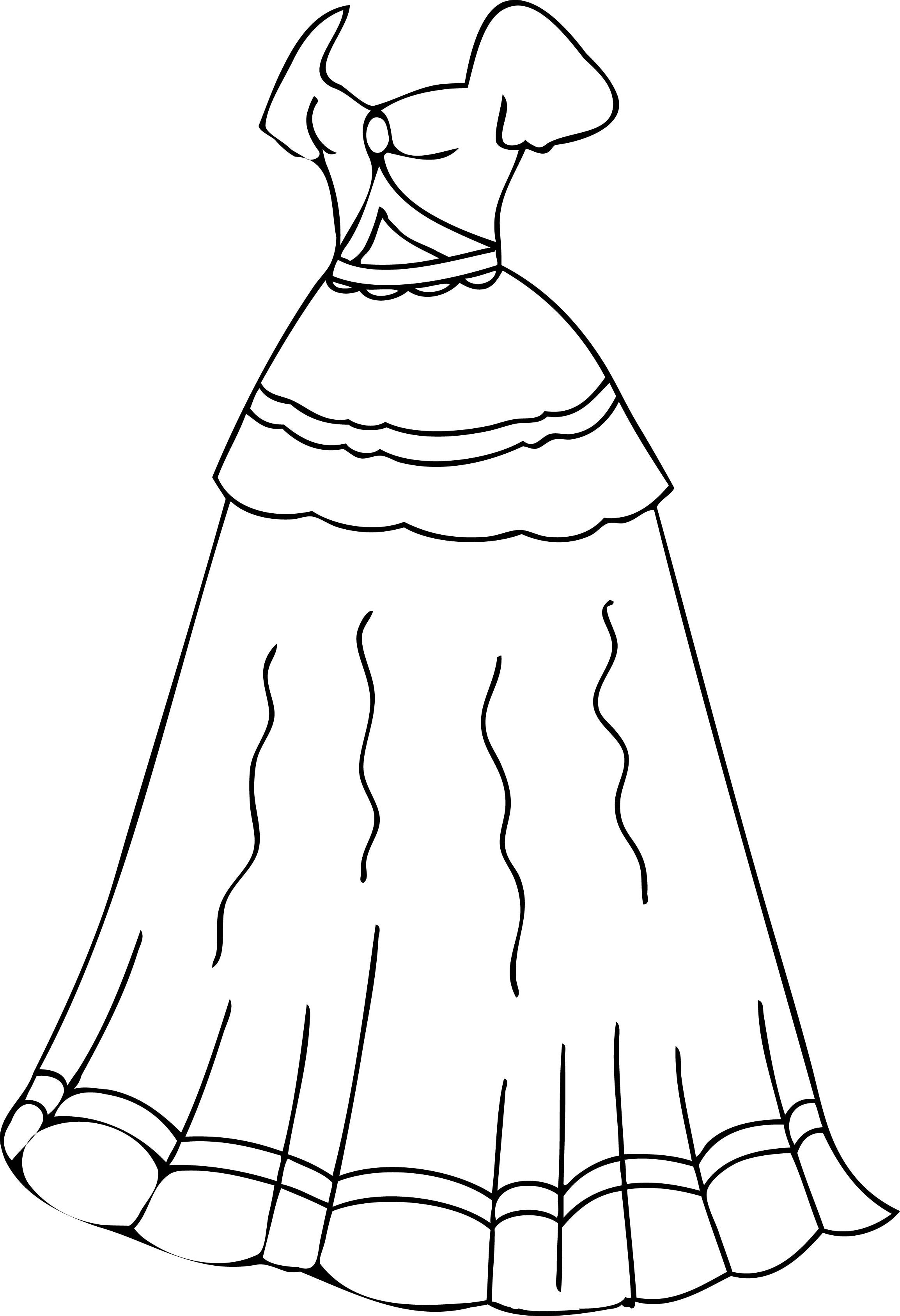 tinkerbell coloring pages - dress coloring page