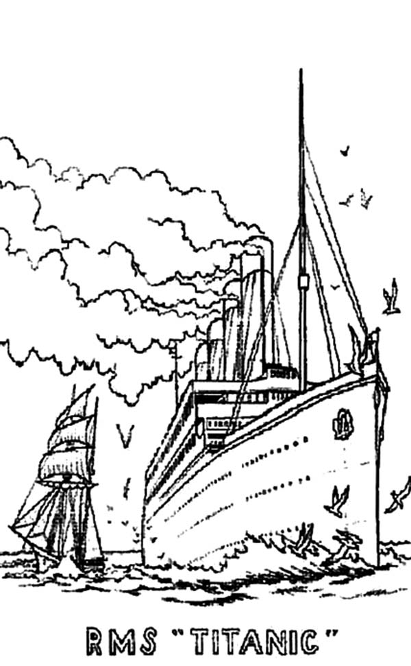 titanic coloring pages - how to draw titanic coloring pages