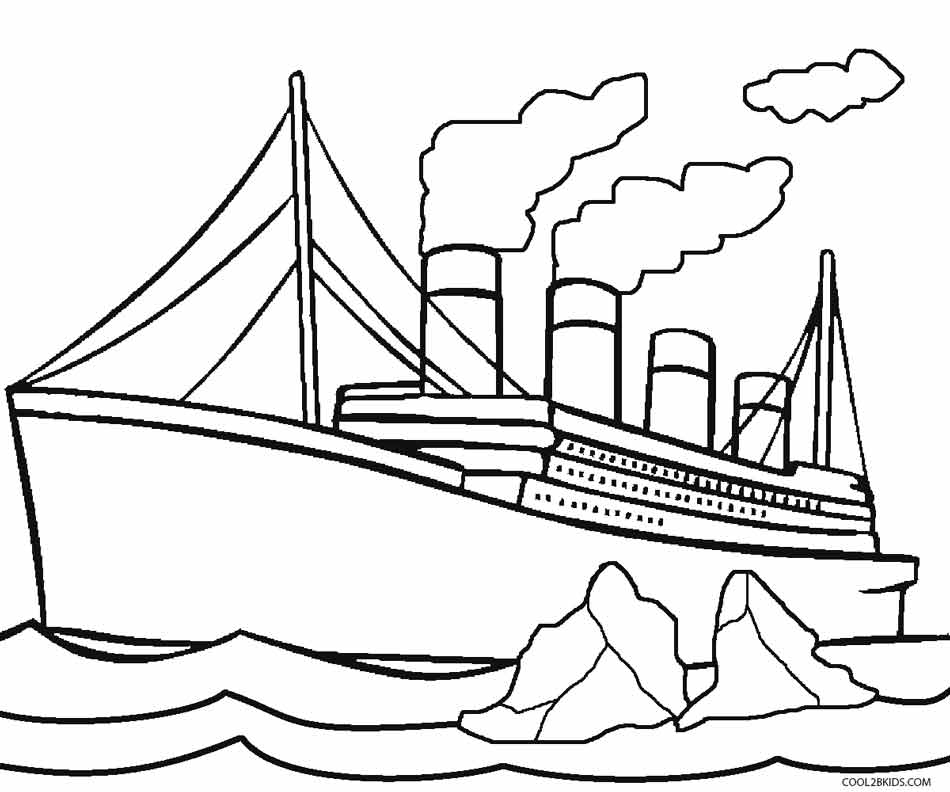 Titanic Coloring Pages - Printable Titanic Coloring Pages for Kids