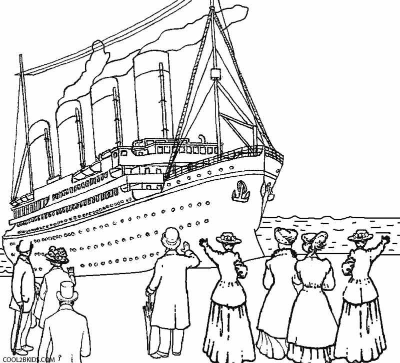 titanic coloring pages -