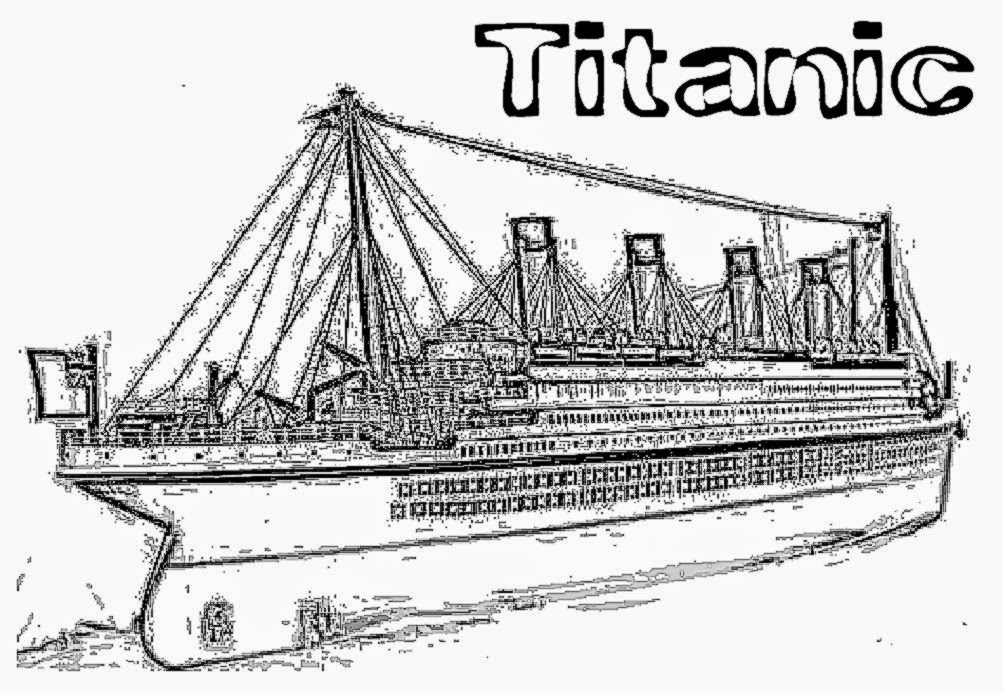 titanic coloring pages - titanic
