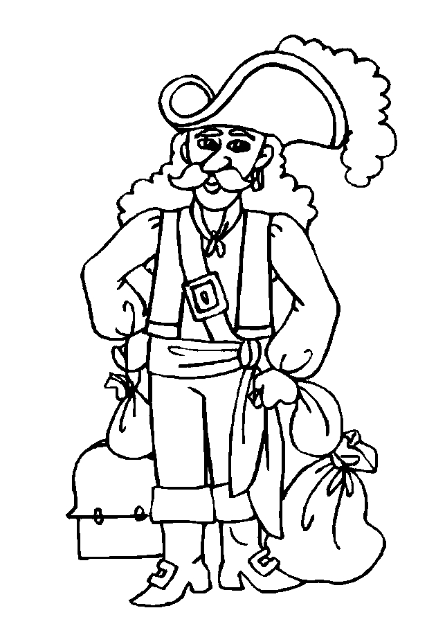 toad coloring pages - piraten