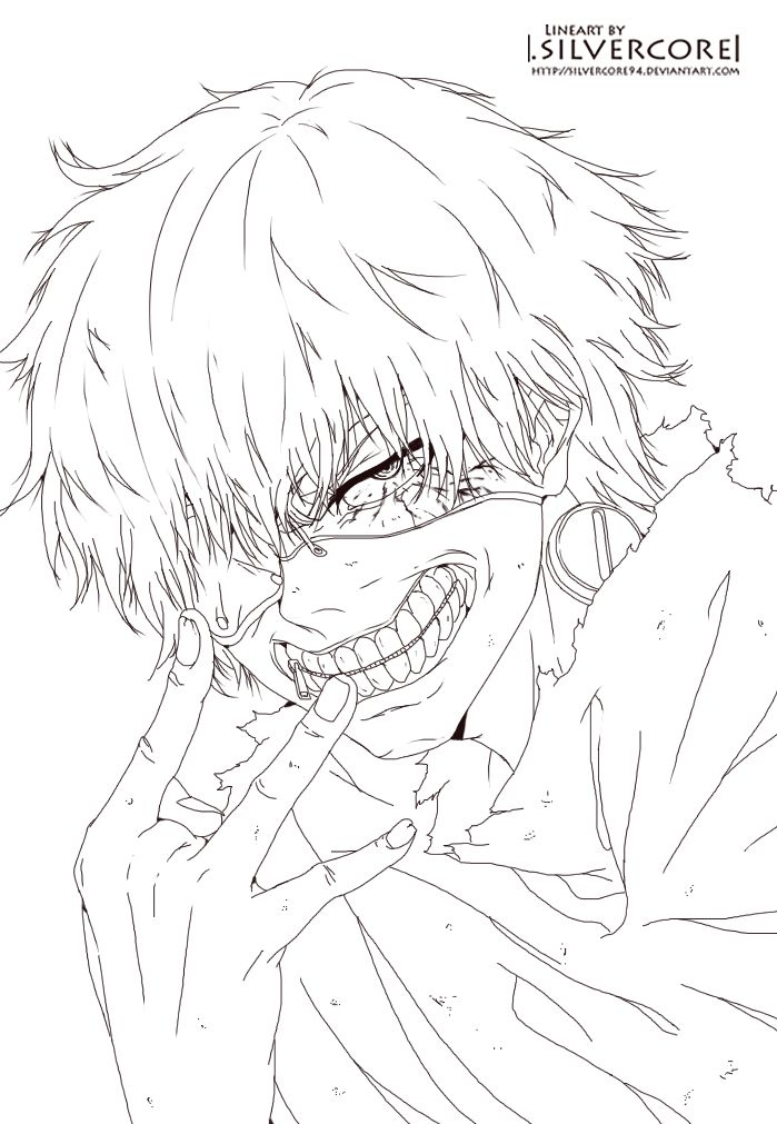 tokyo ghoul coloring pages - coloring pages asian inspired