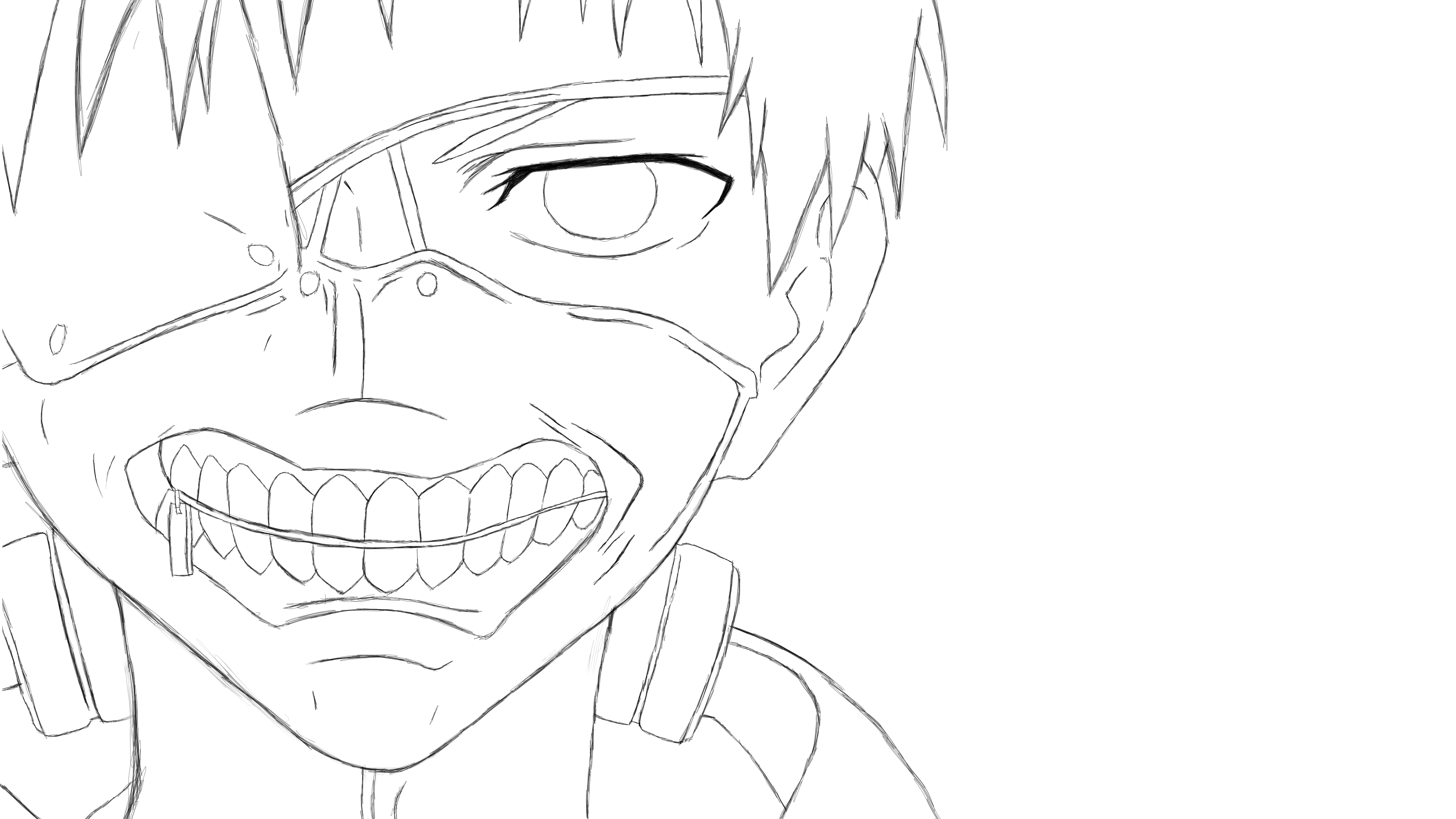 tokyo ghoul coloring pages - tokyo ghoul anime coloring pages