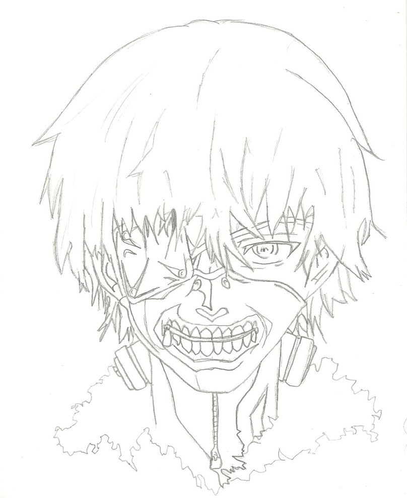 tokyo ghoul coloring pages - tokyo ghoul sketch templates