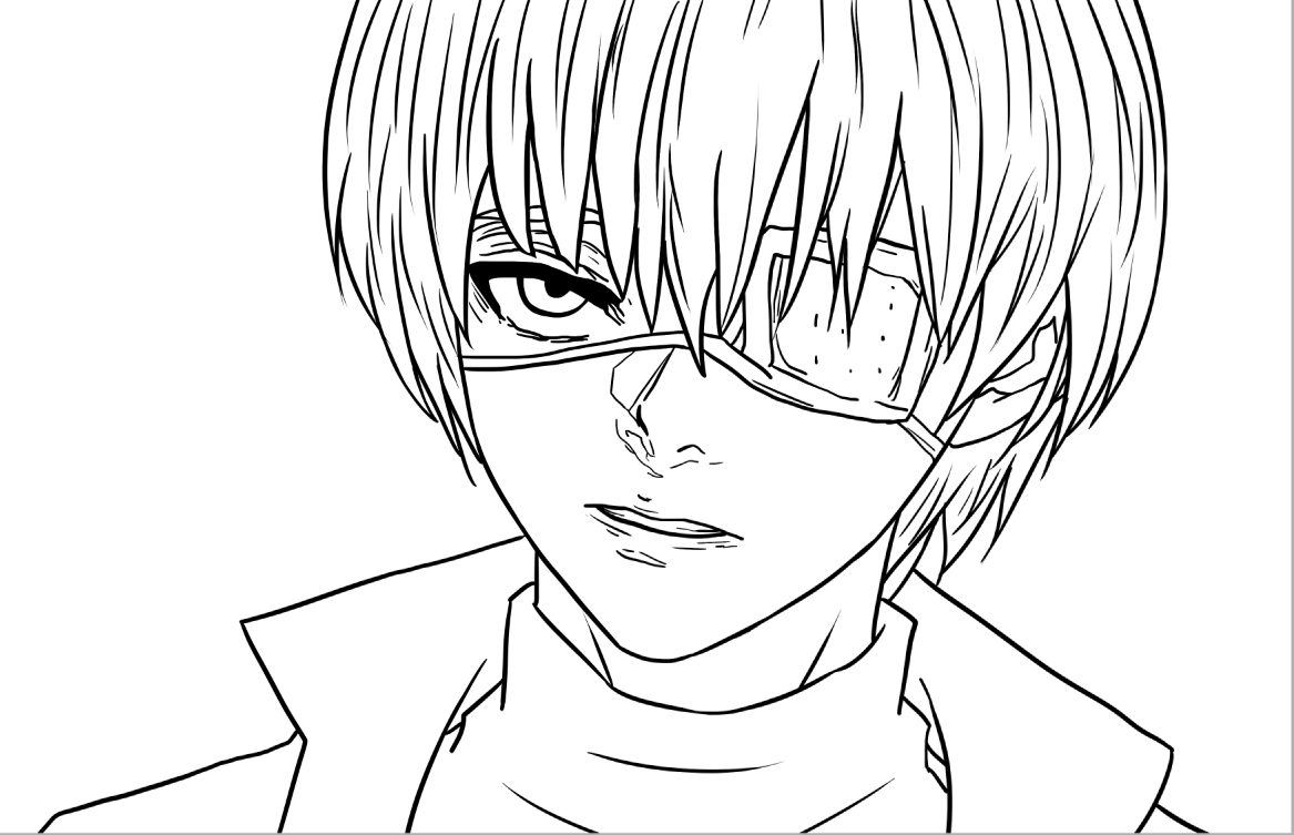 Tokyo Ghoul Coloring Pages - tokyo Ghoul Eyes Sketch Coloring Page