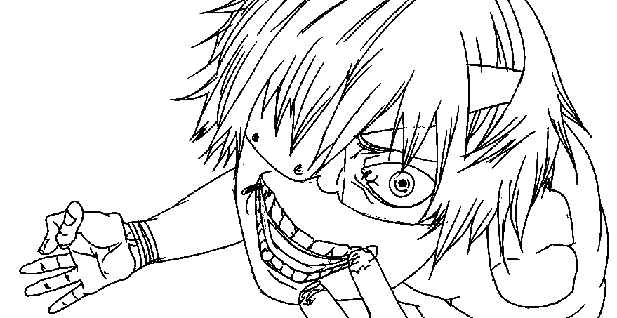 tokyo ghoul coloring pages - tokyo ghoul kaneki drawing sketch templates