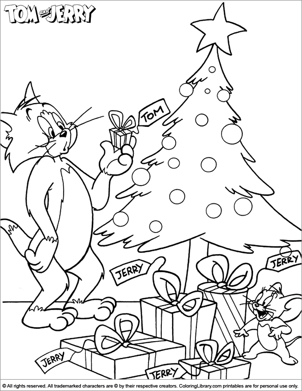 tom and jerry coloring pages - page 1000