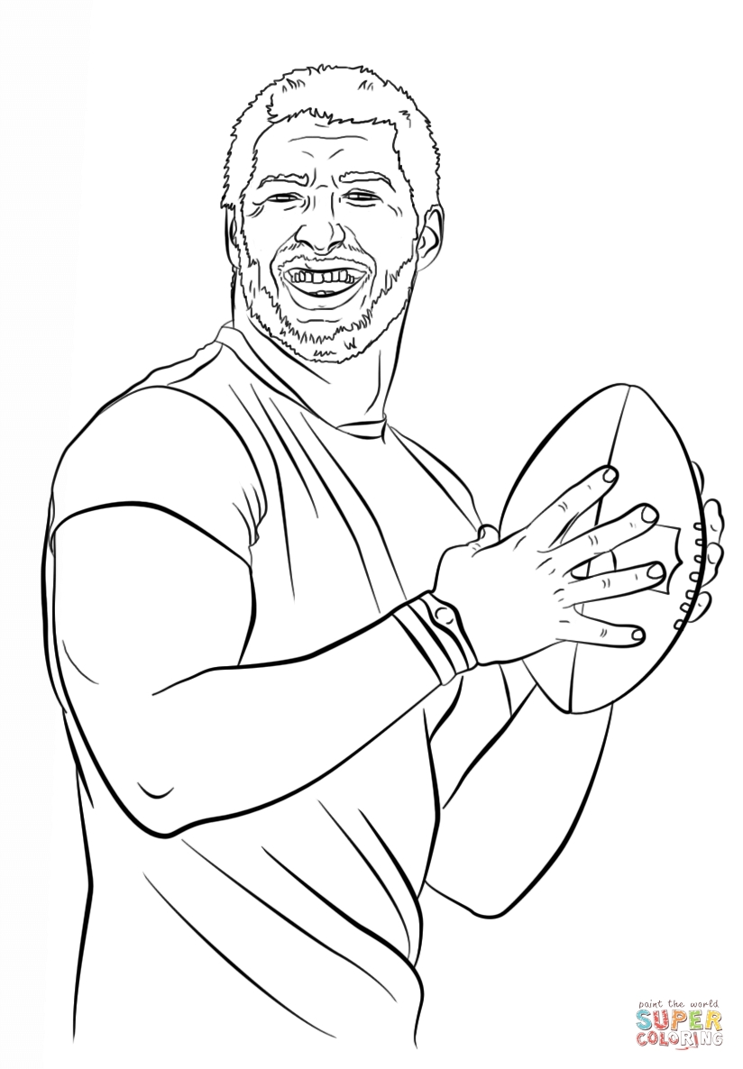 tom brady coloring pages - tom brady coloring page