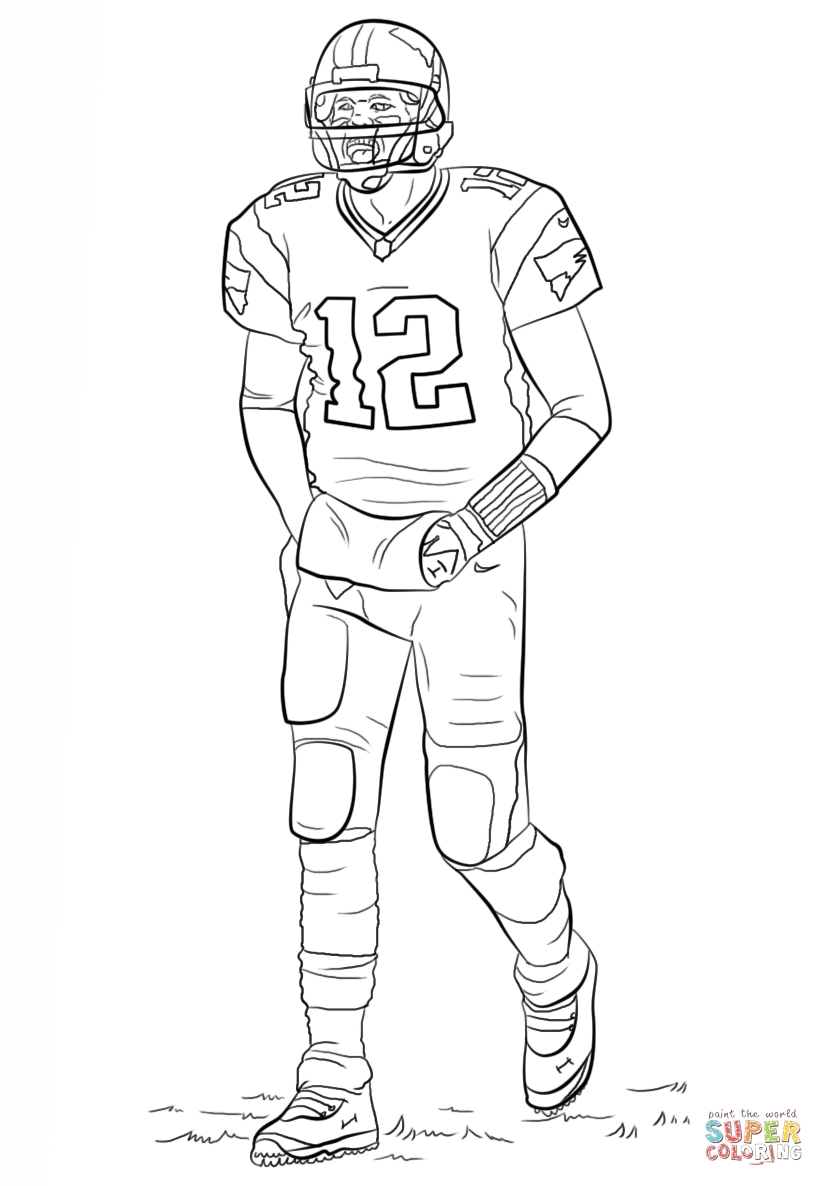 tom brady coloring pages - tom brady coloring pages sketch templates