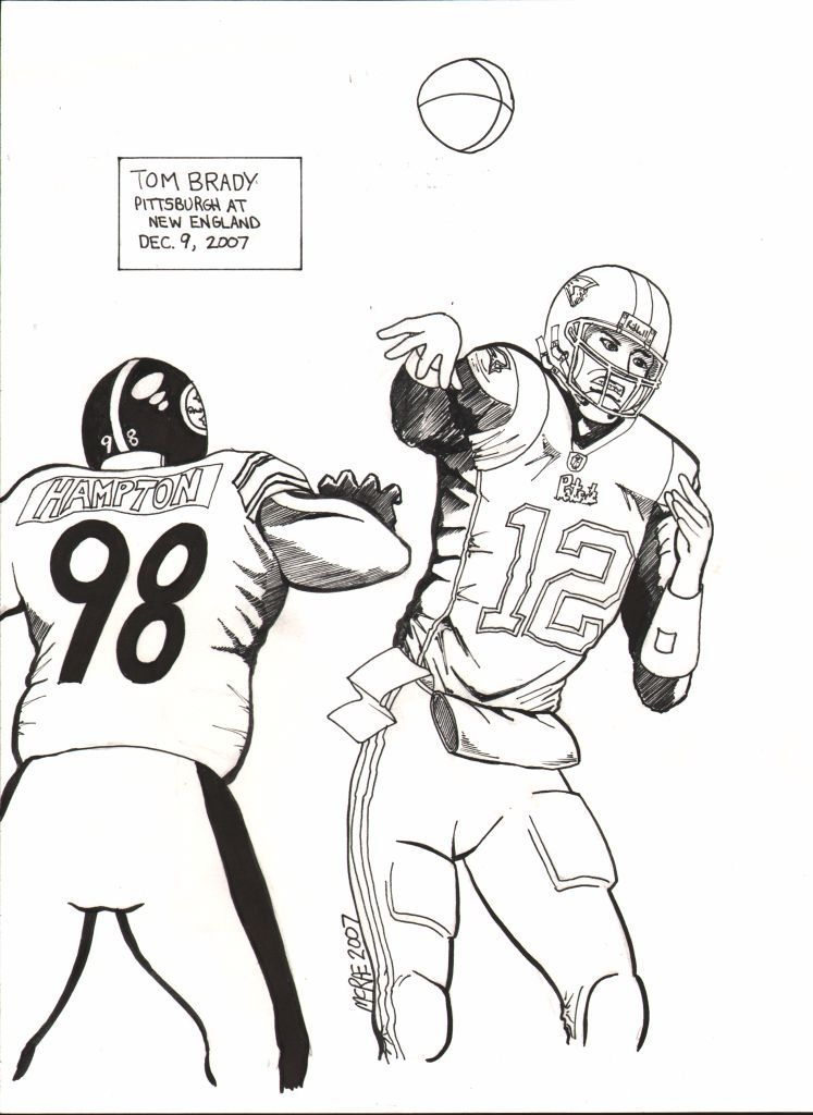 tom brady coloring pages -