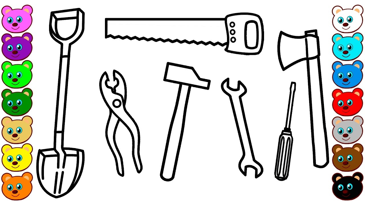 tools coloring pages - watch v=cLgGkoK18ys