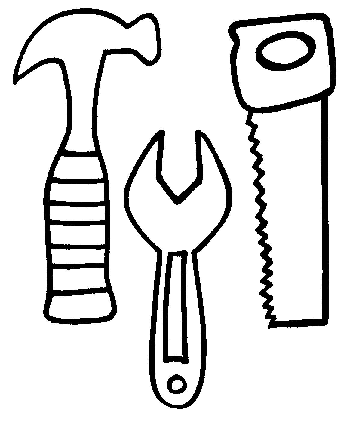 Tools Coloring Pages - the Gallery for tools Coloring Page