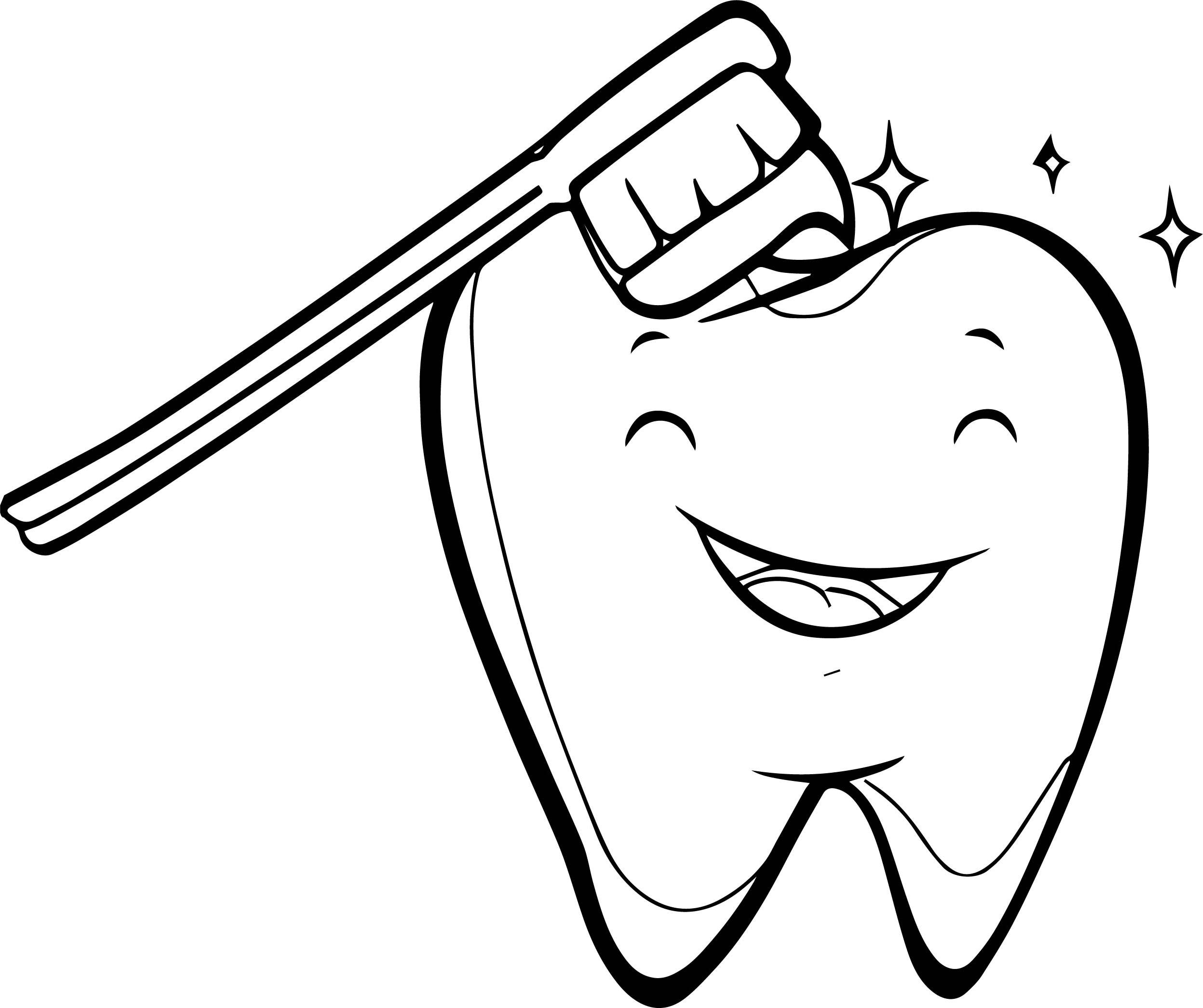 tooth coloring pages - coloring sheets of dentist