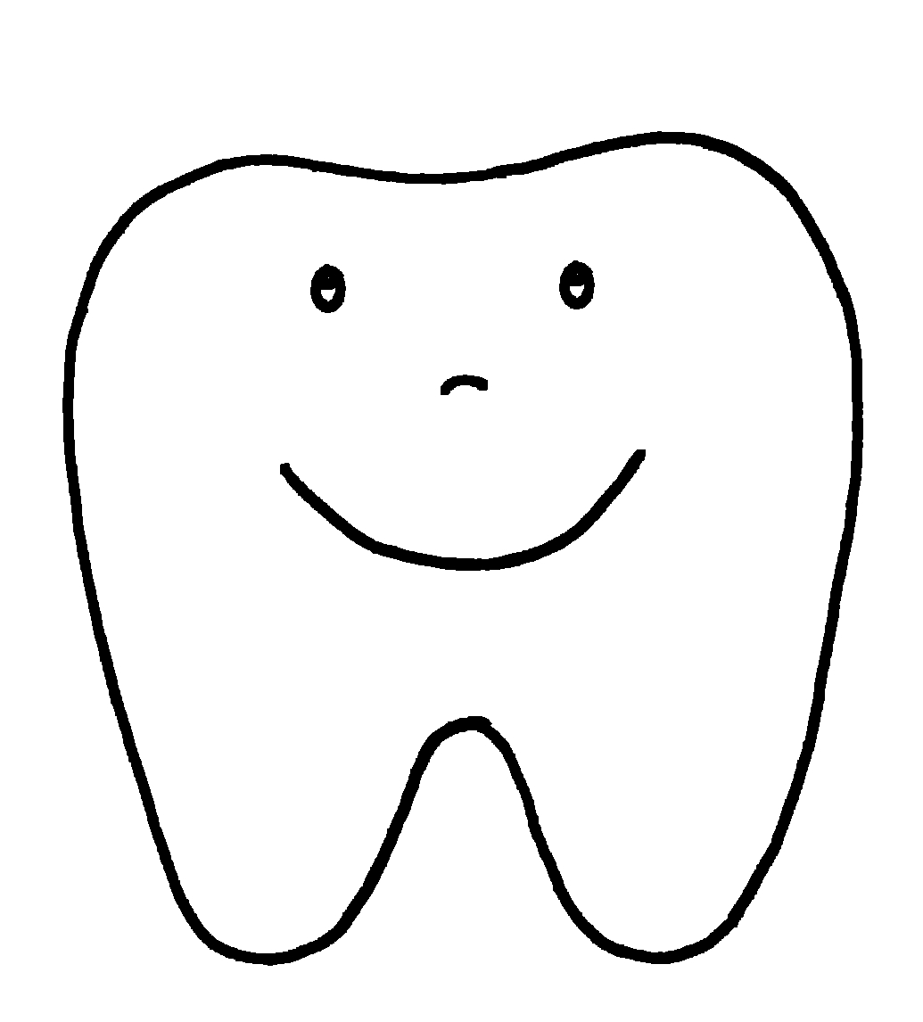 tooth coloring pages - collectionhdwn happy tooth coloring page