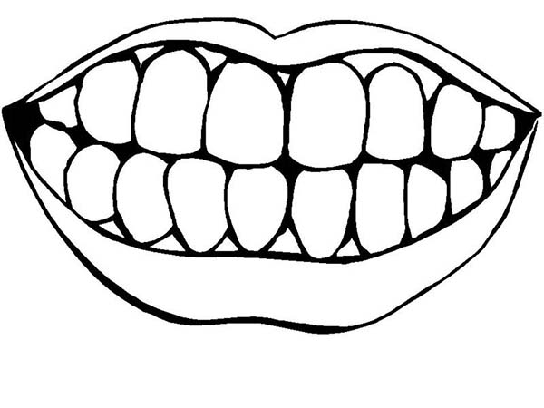 tooth coloring pages - tooth