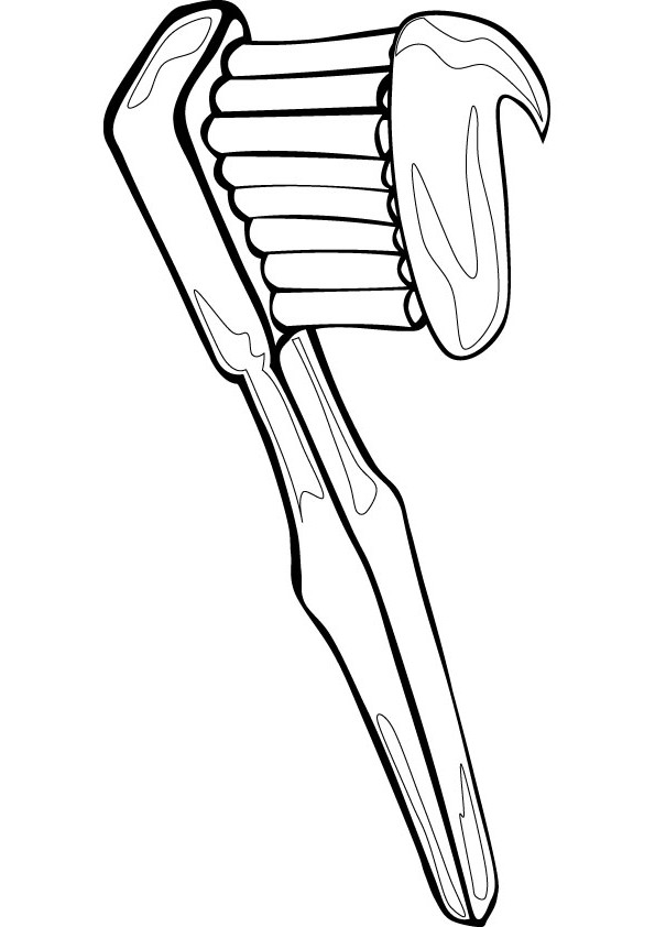 toothbrush coloring page - r=tooth brush