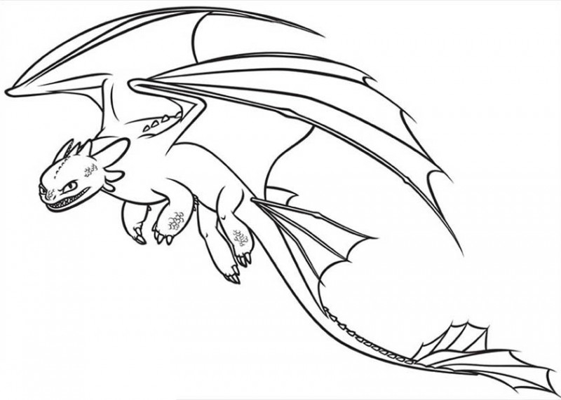 toothless coloring pages - project 5 2