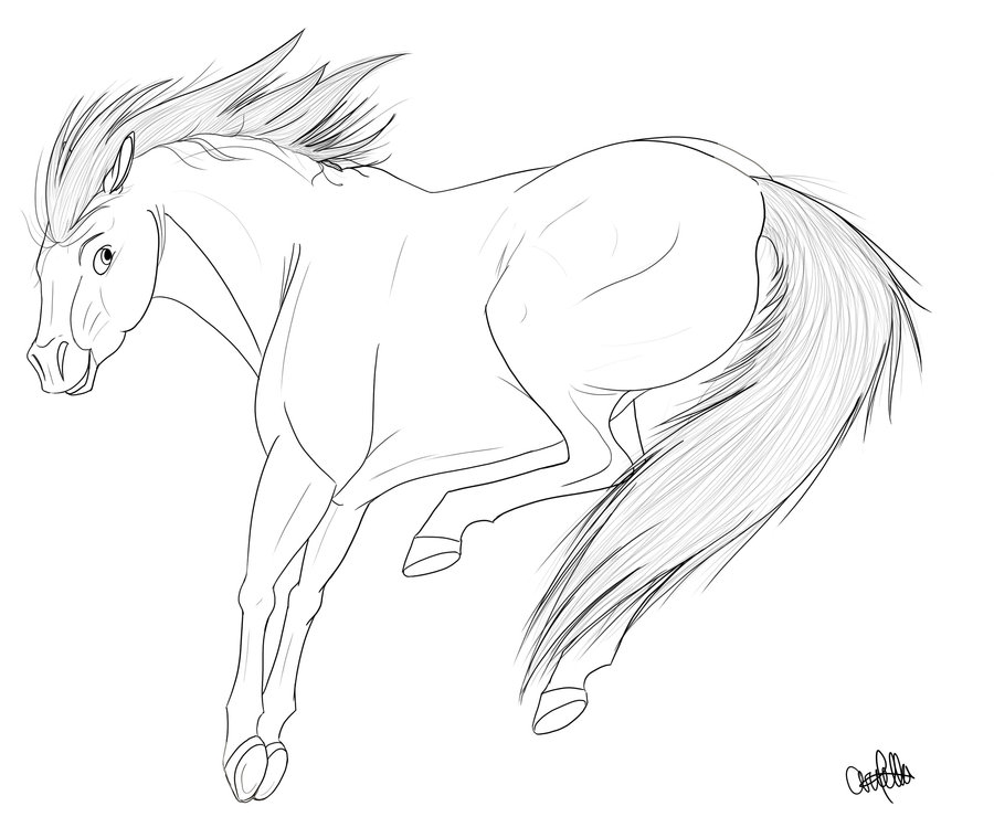toothless coloring pages - Horse FREE Lineart